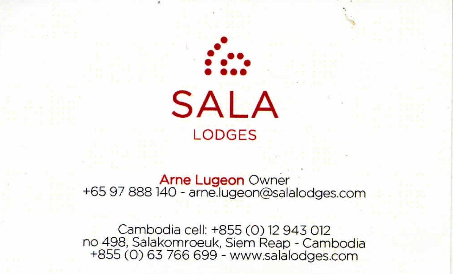 Sala Lodges, Arne Lugeon, Owner